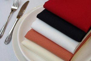 Coloured napkins